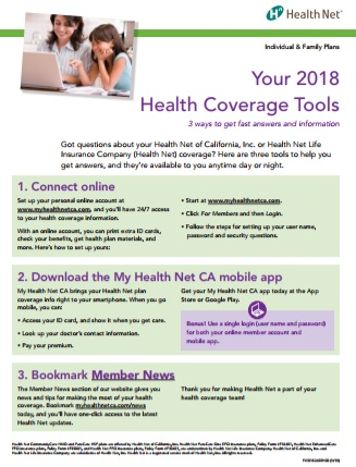 Health Net 2019 Member Tools
