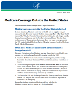Medicare Coverage outside USA