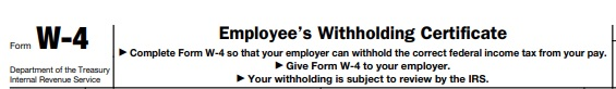 w 4 employee withholding